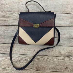 Gianni Bini Faux Leather Colorblock Crossbody Bag